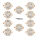 (10 Pack)5W Circle Light Fixture Recessed Dining Room Kitchen Gold/Silver 2-4 Inch Ceiling Light Recessed in Warm/White
