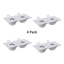 (4 Pack)Angle Adjustable COB Recessed Light 2/3 Lights Rectangle LED Ceiling Light for Dining Room