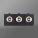 3 Lights COB Flush Mount Recessed 30/36W Wireless Recessed Light in White/Warm White for Hallway Hotel