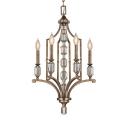 Candle Shape Suspension Light 4 Lights Vintage Style Metal Chandelier Light for Dining Room