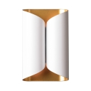 Living Room Double Cylinder Wall Light Metal 2 Lights Contemporary Style Wall Light in White