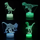 7 Color Changing LED Illusion Light Touch Sensor 3D Night Light with USB Charging Port for Birthday Gift