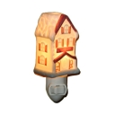 Ceramics House Shape Wall Light Bedroom Living Room On-Off Switch Creative Night Light