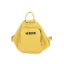Stylish Letter Embroidery Pattern Canvas Tote Casual Backpack 42*20*30 CM