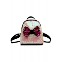 New Trendy Plain Bow-knot Decoration Sequined Backpack 23*13*24 CM