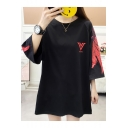 Summer New Trendy Round Neck Half Sleeve Logo Print Cotton T-Shirt For Women