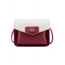 Popular Color Block Bee Embellishment Long Strap Wallet Crossbody Bag