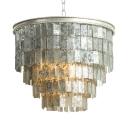 Metal Round Chandelier Light Single Light American Vintage Pendant Light for Dining Room Living Room