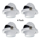 (4 Pack)Adjustable LED Recessed Light Living Room 30W Wireless Recessed Down Light in White/Warm/Neutral