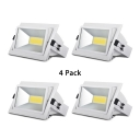 (4 Pack)Heat Sink COB Recessed Light 30/40/50W Rectangle Wireless LED Recessed Down Light in White/Warm White