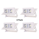 (4 Pack)Wireless LED Ceiling Light Recessed Rectangle Light Fixture in White/Warm White for Living Room