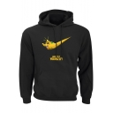 Cool Letter Just Do It Yourself Graphic Printed Long Sleeve Pullover Hoodie