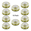 (10 Pack)2-3 Inch Crystal Recessed Light 5W Wireless LED Ceiling Light Recessed in White/Warm/Multi Color for Kitchen