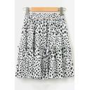 Girls Trendy Camo Printed Elastic Waist Ruffled Hem Mini A-Line Skirt