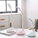 Student Kids USB Port Desk Lamp Flexible Gooseneck White/Blue/Pink Reading Light with On-Off Switch