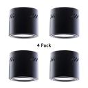 (4 Pack)Foyer White/Black Flush Mount Light 18W Aluminum Round Shape LED Down Light in White/Warm White