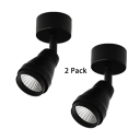 (2 Pack)Black/White Wireless Ceiling Fixture Angel Adjustable High Brightness LED Spot Light in White for Kitchen