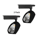(4 Pack)Angle Adjustable LED Track Lighting Aluminum 1 Light Black/White Spot Light in White/Warm White for Showroom