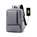 Fashion Laptop Bag with USB Charger Casual Business Backpack 30*13*44 CM