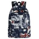 Unisex New Stylish Flag Printed School Bag Backpack 30*13*45 CM