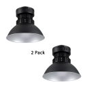 Industrial Workshop Dome Bay Lighting 1/4 Pack Aluminum Anti-Rust Black Pendant Light with Heat Sink