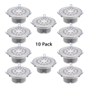 (10 Pack)Aluminum LED Flush Mount Recessed Mall Shop Wireless Round Light Fixture Recessed in White/Warm White