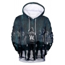 New Trendy Street Fashion Double W Logo Printed Unisex Pullover Hoodie