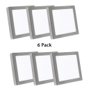 6 Pack 3 Inch LED Spot Light Recessed Aluminum Square Slim Panel Flush Ceiling Light for Office Home