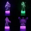 7 Color Changing 3D Night Light Boy Girl Bedroom Touch Sensor Movie Character Pattern LED Bedside Light