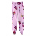 Hot Fashion Comic Magic Wand Printed Drawstring Waist Cotton Loose Joggers Sweatpants