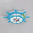 Pirate Ship Shape Ceiling Light White Lighting/Warm Lighting/Stepless LED Ceiling Light for Kids Bedroom
