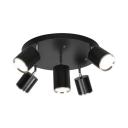 Living Room Aluminum Spot Light Angle Adjustable High Brightness 5 Heads LED Light Fixture in White/Warm White