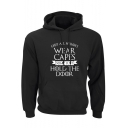 Trendy Cool Letter HOLD THE DOOR Printed Long Sleeve Pullover Hoodie