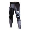 Comic Figure 3D Printed Quick Drying Skinny-fit Leggings Cycling Sport Joggers