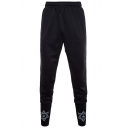 Guys Fashionable Geometric Drawstring Waist Casual Sport Joggers SweatPants