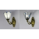 Tiffany Sconce Light Stained Glass 1 Light Hand Made Wall Lamp for Hallway Stair