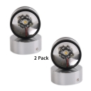 (2 Pack)Small Round Aluminum LED Spot Light Wireless 2 Heads High Brightness Sconce Light with Multi Color Choice for Living Room