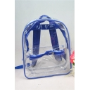 New Trendy Plain Transparent PVC Mini School Bag Backpack 32*26*12 CM