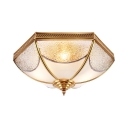 Metal Bowl Ceiling Light 3/4/6 Lights Luxurious Flush Light in Brass for Shop Mall