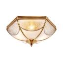 Metal Bowl Ceiling Light 3/4/6 Lights Luxurious Flush Light in Brass for Shop Mall