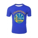 New Fashion Logo Letter CHAMPIONS Printed Basic Round Neck Short Sleeve Fitted T-Shirt