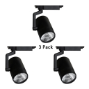 (3 Pack)Cylinder Cloth Shop Ceiling Light Aluminum 1 Head Rotatable LED Track Lighting in White/Warm White