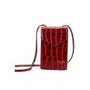 Chic Crocodile Pattern Mini Crossbody Phone Bag 12*6*20 CM