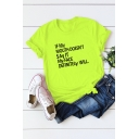 Street Style Funny Letter IF MY MOUTH DOESN'T SAY IT Short Sleeve Cotton Loose Tee