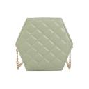 Elegant Classic Diamond Quilted Crossbody Bag for Women 12*7*16 CM