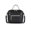 Stylish Solid Color Zipper Tassel Rivet Embellishment Crossbody Satchel Bag 20*8*16 CM