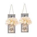 One Pair String Light with Bottle and White Flower Decorative Sting Light for Bedroom Foyer