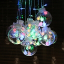 60 Lights String Light Decorative Clear Glass Hanging Light with Globe Shape for Living Room Party