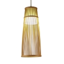 Cylinder Shape Ceiling Light Single Light Rustic Style Ceiling Light Fixture for Living Room