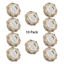(10 Pack)3W 2-4 Inch Flush Mount Light Circle LED Ceiling Light Recessed in White/Warm for Living Room Restaurant